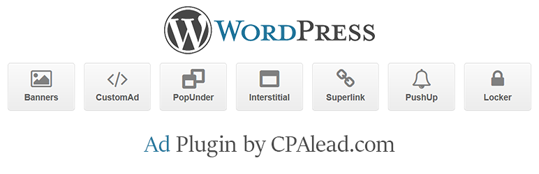 CPAlead WordPress ad plugin providing pop unders, banners, and more.
